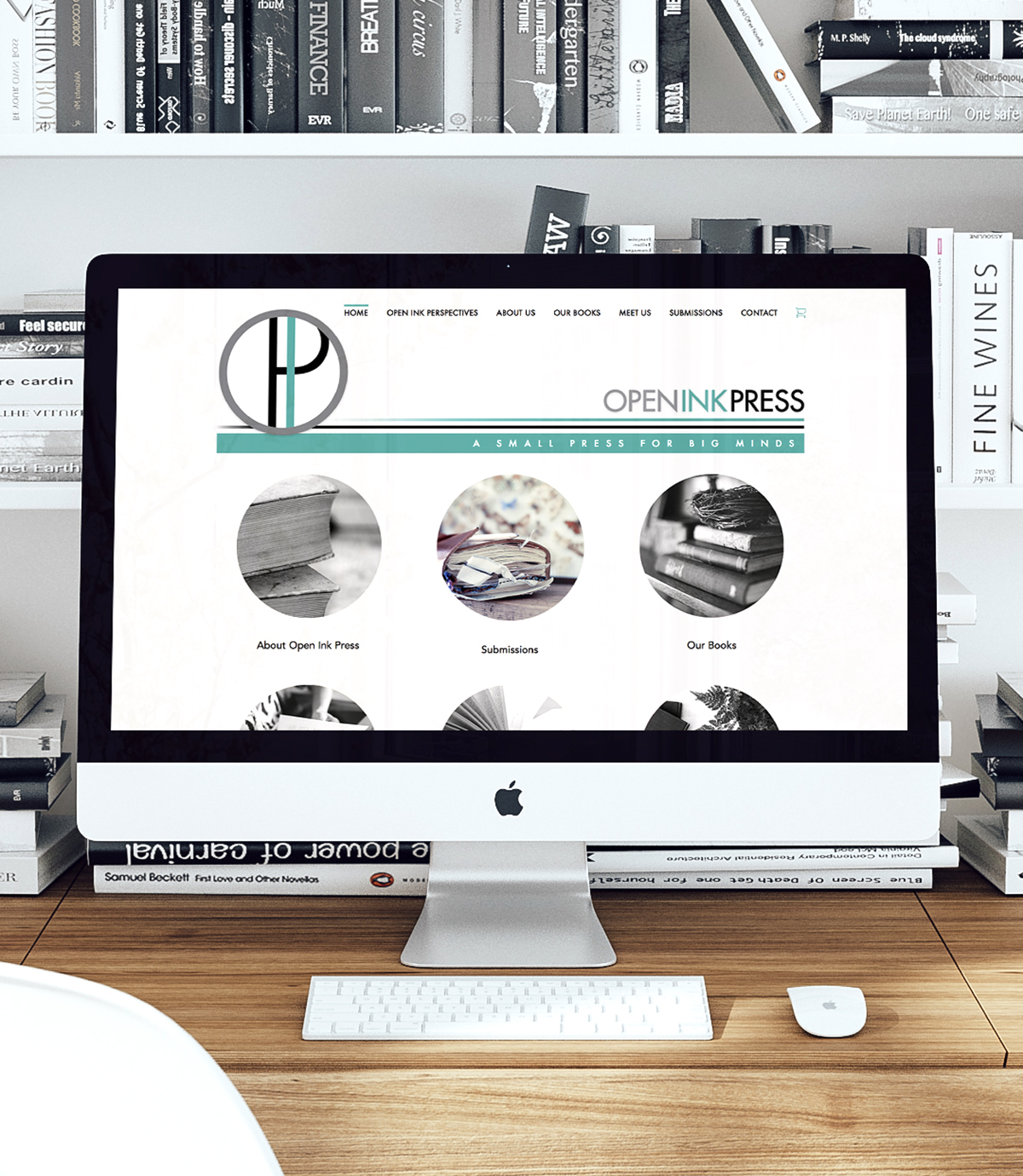 Open Ink Press website by Printish